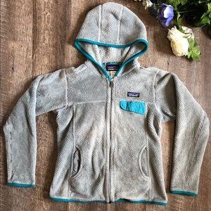 Patagonia retool fleeced zip up hoodie